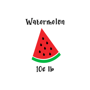 watermelon themed SVG for tiered tray sign