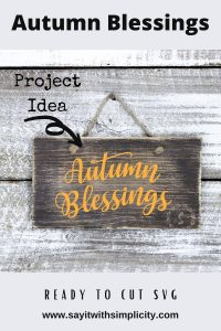 Autumn Blessings Pin