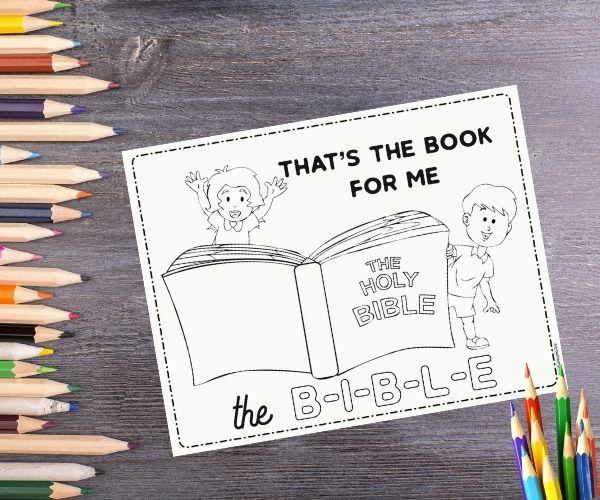 B-I-B-L-E Coloring Page Image