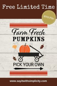 farm fresh pumpkins pin image