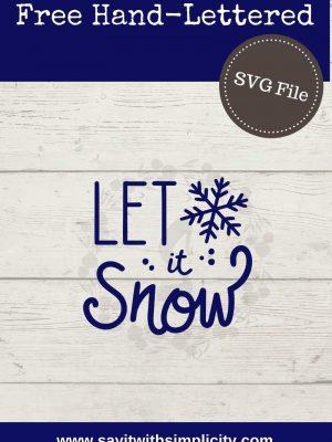 let it snow pin