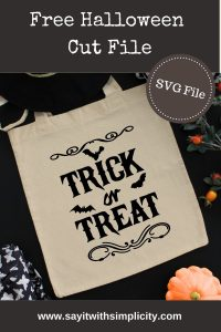 trick or treat tote svg