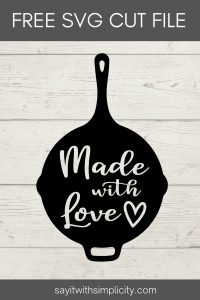 Pin Image cast iron made with love