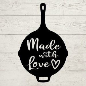 cast iron made with love svg
