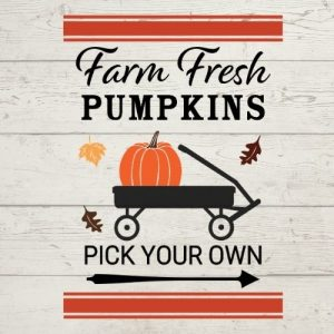 farm fresh pumpkins wagon svg