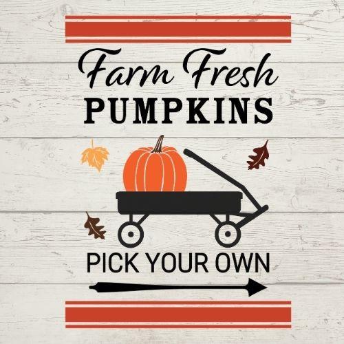 farm fresh pumpkins wagon svg