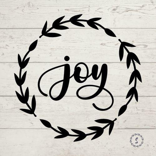 Joy Wreath Free SVG cut file
