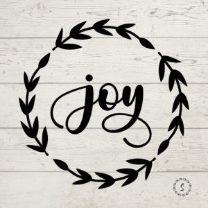 joy wreath Christmas SVG