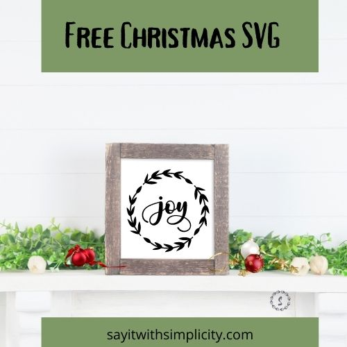 joy wreath svg