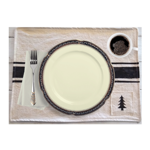 image grain sack stripe placemat