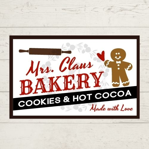 Mrs. Clause Bakery Free SVG