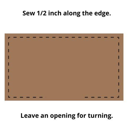 farmhouse grain sack stripe placemat sewing tutorial