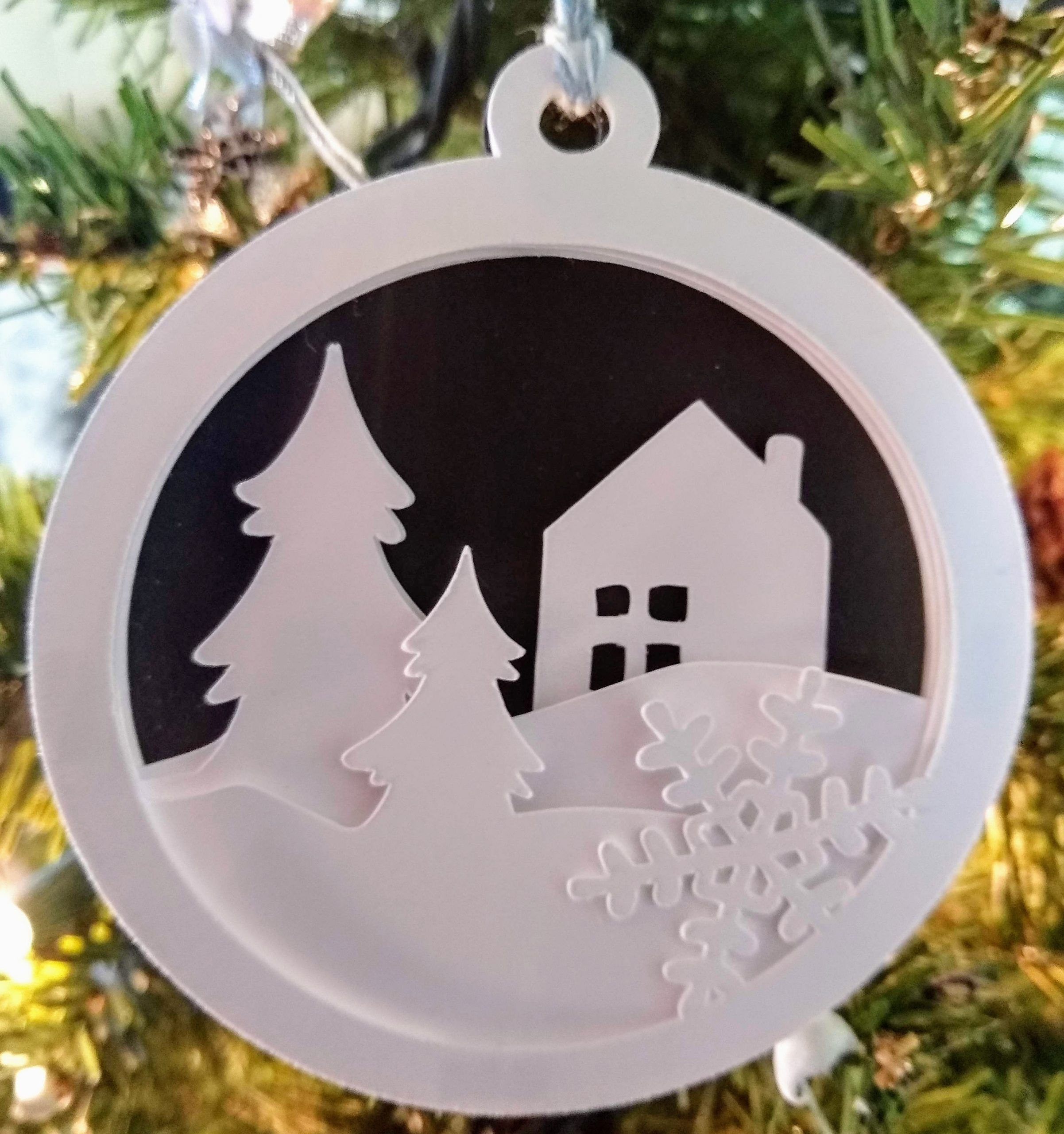 3D Christmas Ornament SVG