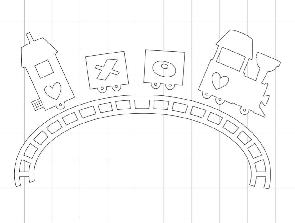Valentine Train Cricut Design Space