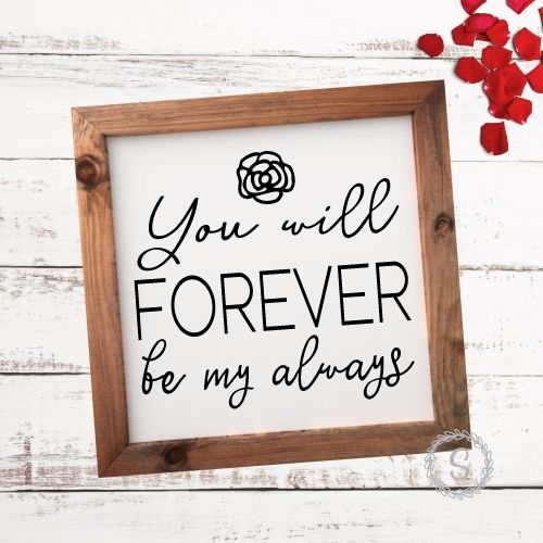 image of a sign made with Valentine's Day SVG