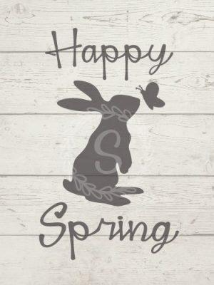 Free SVG Happy Spring