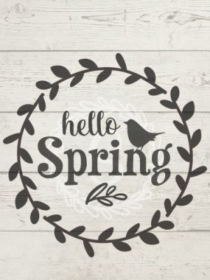 Image of Hello Spring Cut File