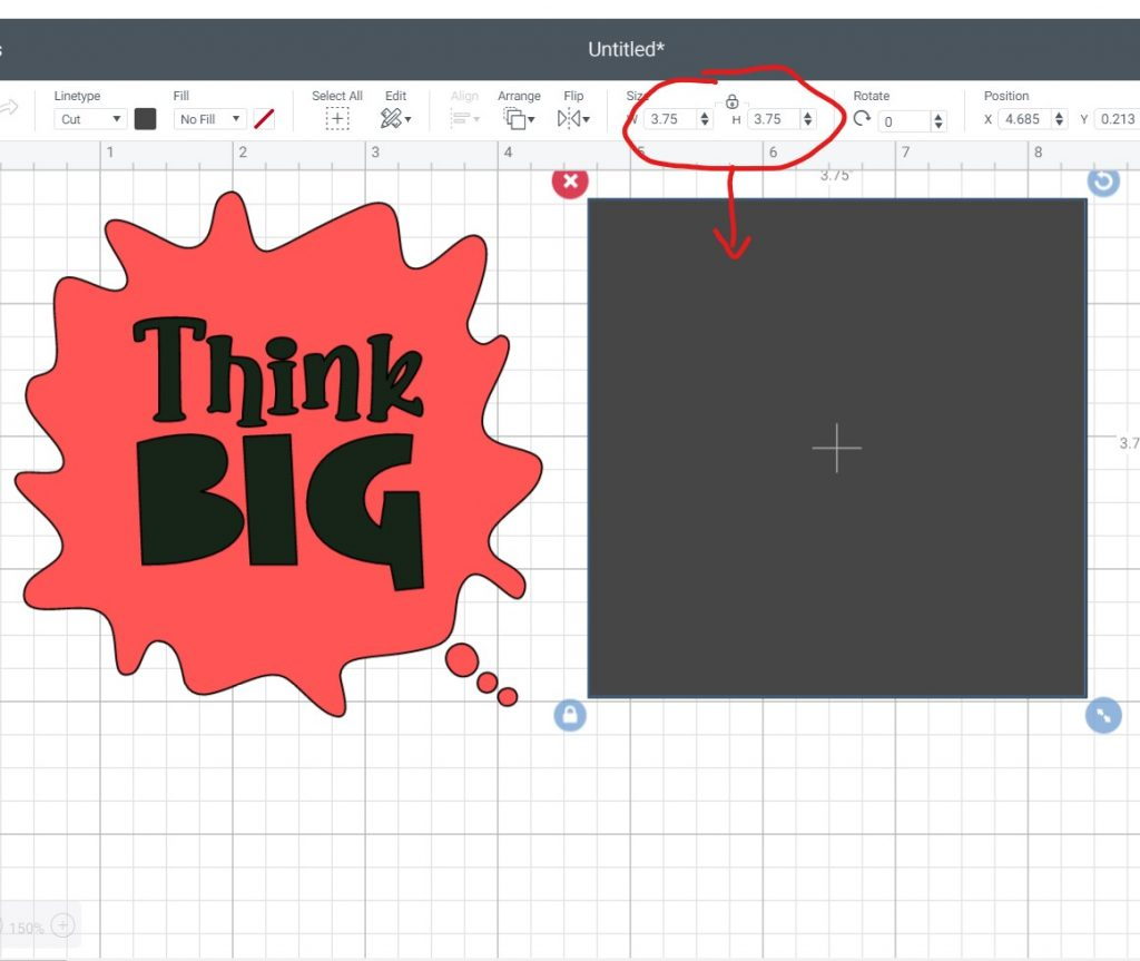 Sizing Images in Cricut Design Space