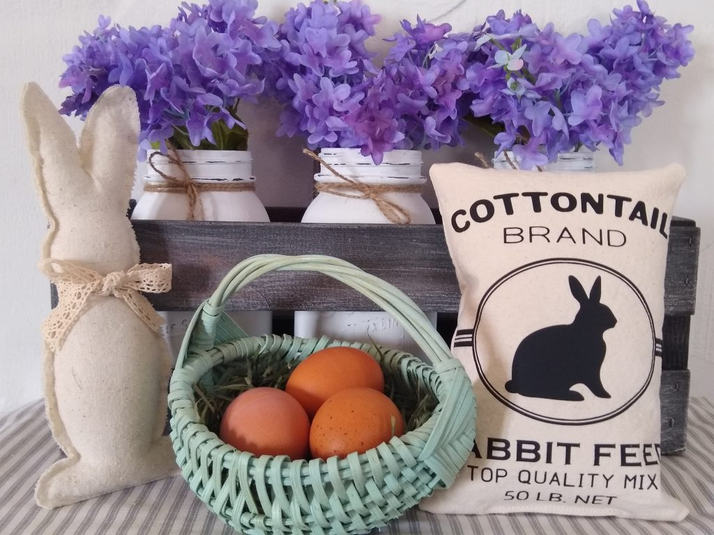 Centerpiece with Rabbit Feed Sack
