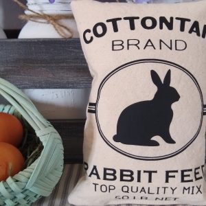 Rabbit Feed Sack Free SVG