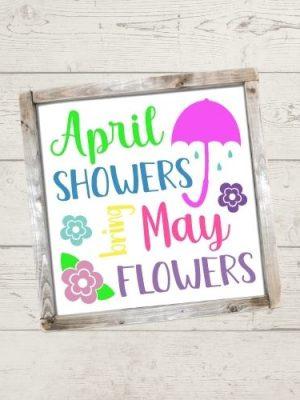 April Showers SVG