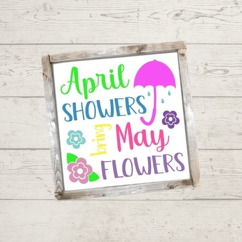 April Showers SVG