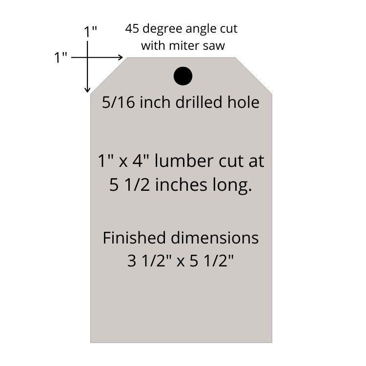 Cut settings DIY wood tag