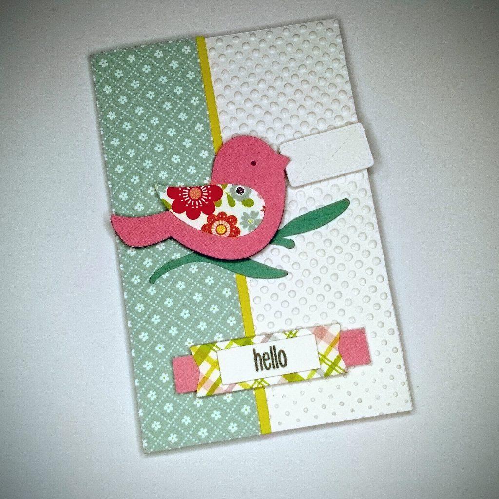 spring bird handmade card