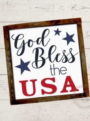 God Bless the USA Cut File
