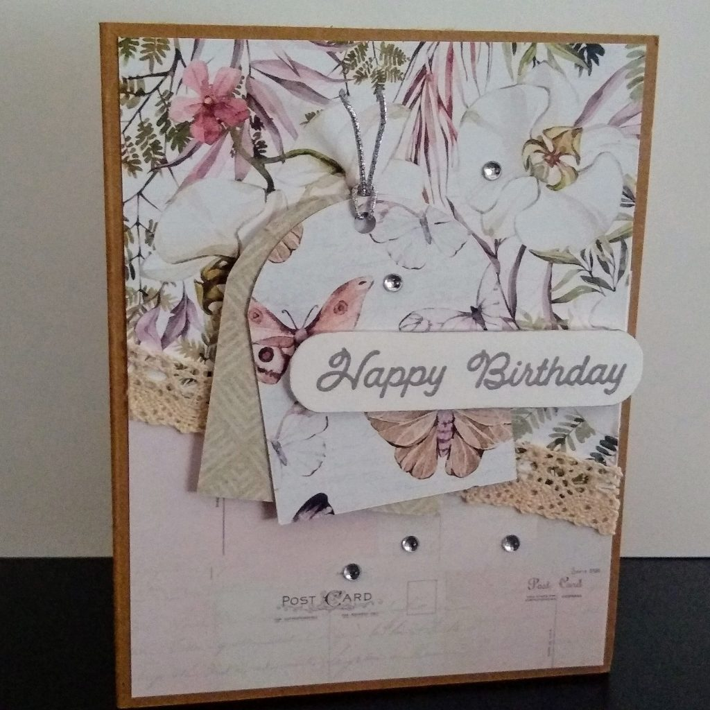 quick and easy card with patterned paper