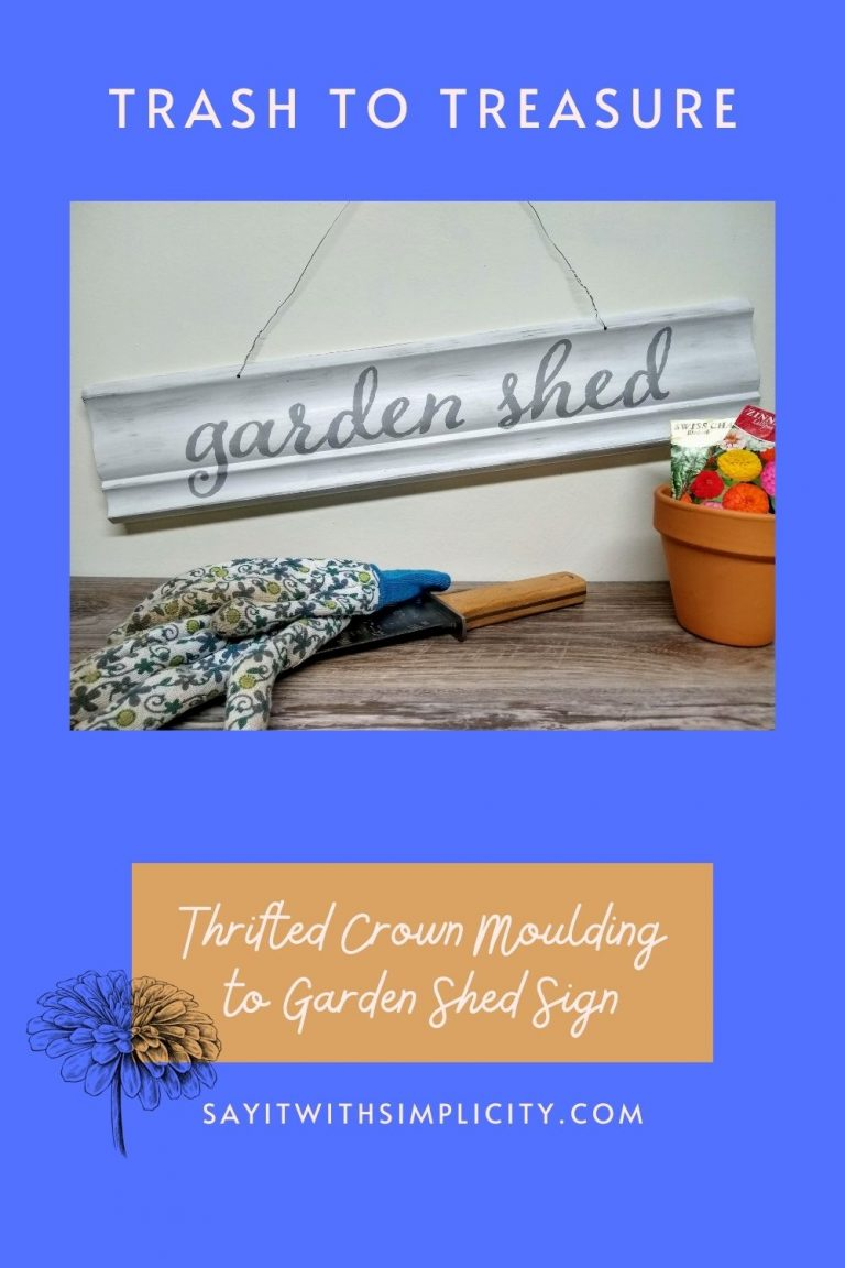 Garden Shed Sign from Reclaimed Trim