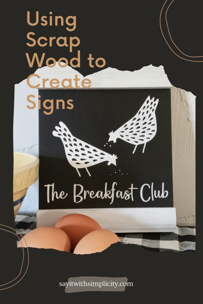 Using Scrap Wood to Create Signs