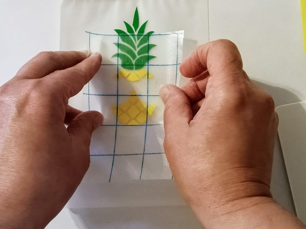Applying Pineapple Image to Summer Drink Pouch