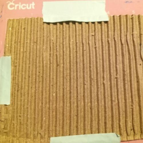 Cardboard on Cricut Mat