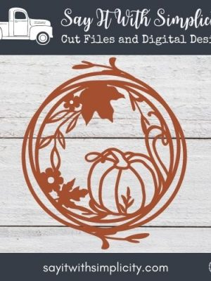 Fall Floral Wreath SVG