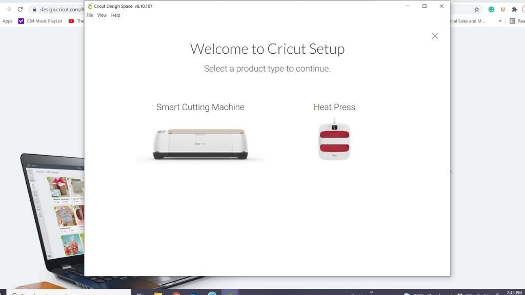 On screen prompts Cricut Mug Press Setup