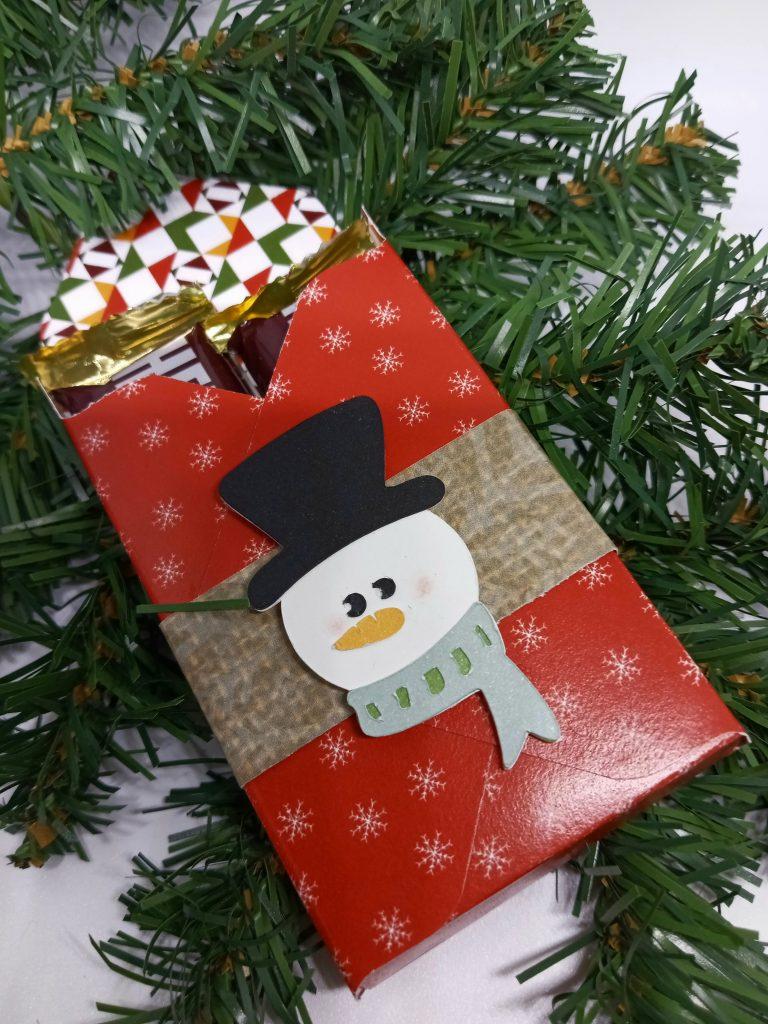 Make a Treat Box with Cute Snowman Face