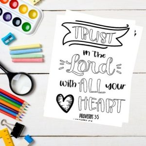 Trust in the Lord Bible Coloring Page