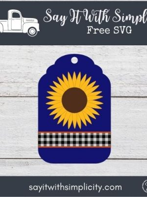 Fall Floral Tag