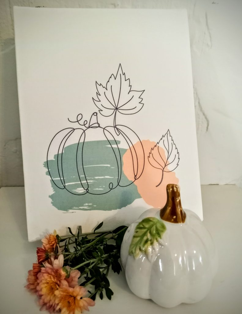 Fall Canvas Using Sublimation