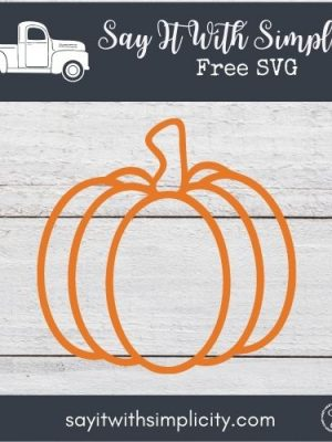 Pumpkin Outline SVG